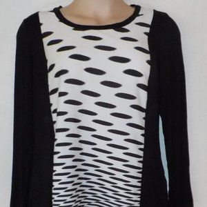 Allison Taylor top sz XL 16 B/W EUC